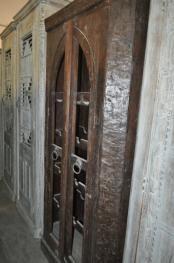Reclaimed Wood Old Door Wine  Almirah