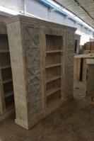Reclaimed Wood Old Door Bookcase