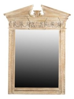 Reclaimed Wood Carved Mirror