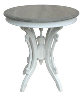 VICTORIAN TEA TABLE- WHT/RW+