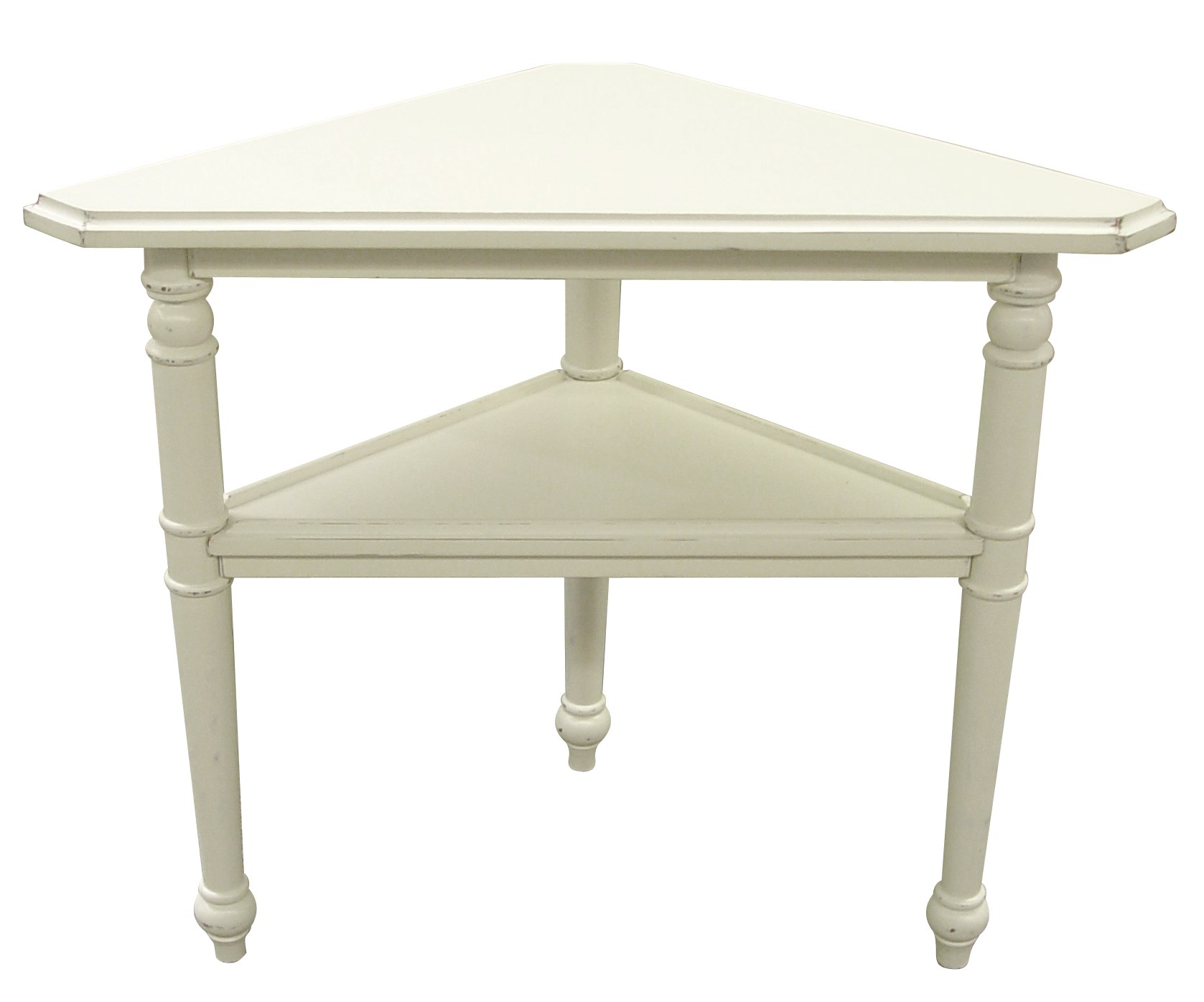 PROVENCE TRIANGLE TABLE  WHT