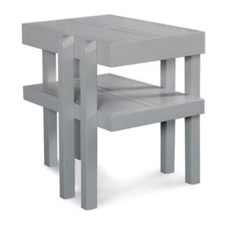 HAMPTON SIDE TABLE - GRY