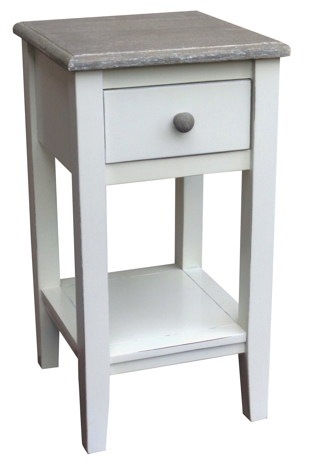 Beautiful MISSION ACCENT TABLE RW/WHT+