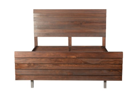 Louvered King Bed