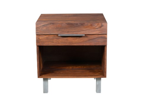 Louvered Nightstand