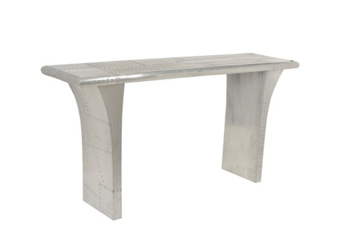 Oberon Console with curved leg