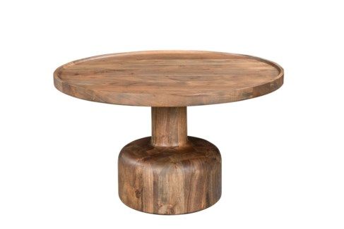 Ravinia Side Table with Dark Brown finish