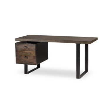 Charles Desk - Single Ped / Concrete