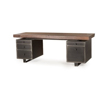 Charles Desk - Double Ped / Live Edge