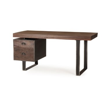 Charles Desk - Single Ped / Live Edge