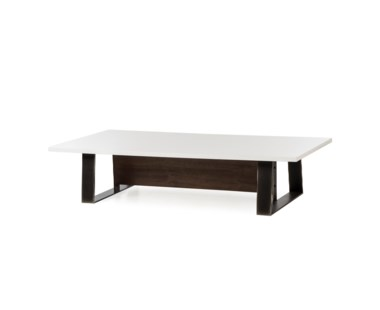 Jordan Coffee Table - White Lacquer Top
