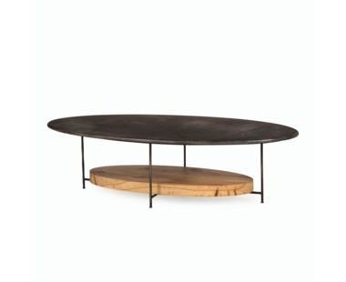 Olivia Coffee Table - Charcoal Vellum