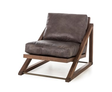Teddy Chair- Story Black Leather