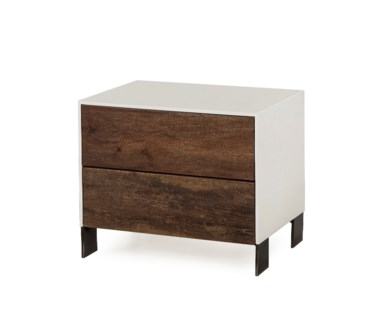 Cardosa Nightstand - 2 Drawer / Small / White