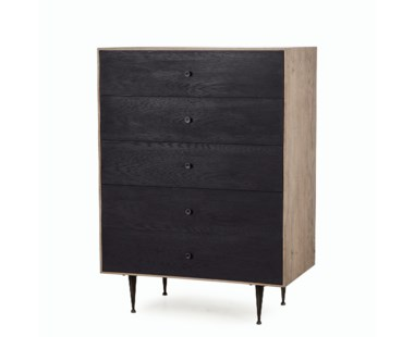 Matilda Chest - 5 Drawer / Black