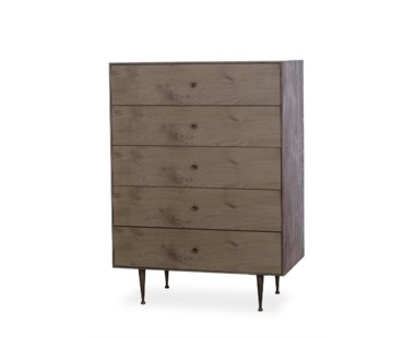 Matilda Chest - 5 Drawer / Silver