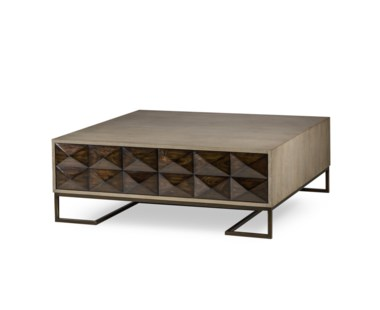 Casey Coffee Table - 2 Drawer / Square