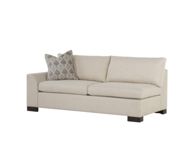 Ian LAF Loveseat - Clipped Arm / Block Leg - Marek Spritzer Fabric