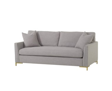 "Ian Loveseat - Tailored 5"" Arm, Leg B Metal Gold"