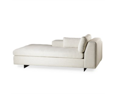 Ian Chaise Lounge - Left Arm Facing, Leg A Metal Sled