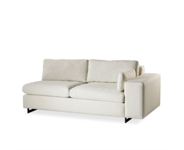 Ian Loveseat - Right Arm Facing, Leg A Metal Sled