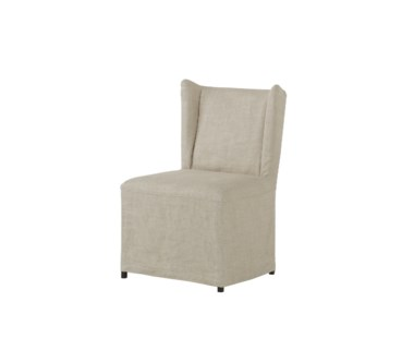 Loren Dining Chair - Textured Linen Fabric / Wright Finish