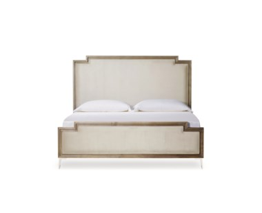 Chloe Upholstered Bed - US Queen / Vera Whisper