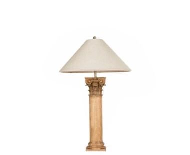 Delphi Table Lamp - Vintage Oak