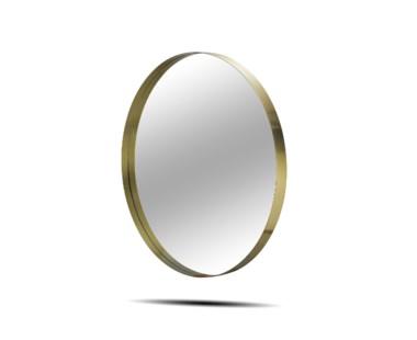 """Darcy Mirror - Round 36"""" / Brass"""
