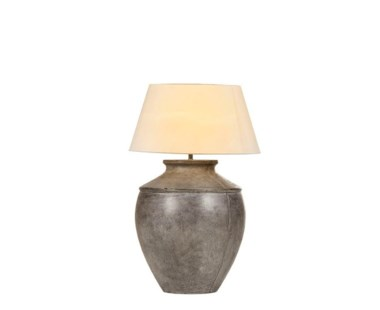 Evian Floor Lamp - Small White Shade