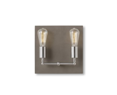 Factory Sconce - Double / Nickel
