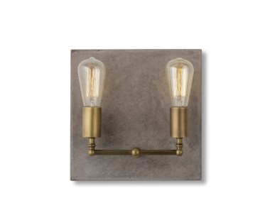 Factory Sconce- Double / Aged Brass