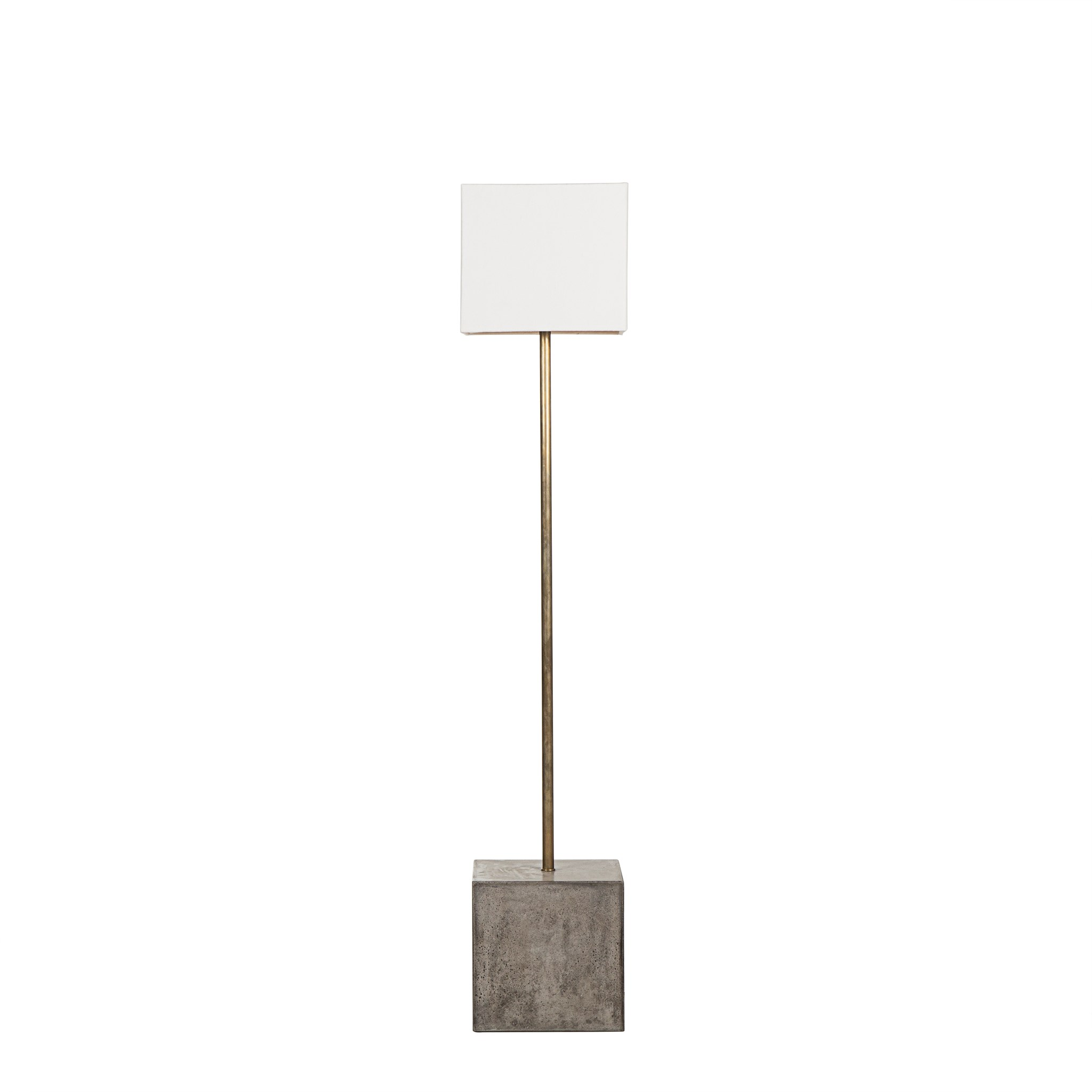 Untitled Floor Lamp   Square / White Shade