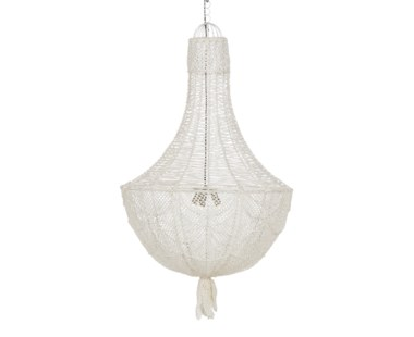 Hamptons Knit Chandelier- Small / White
