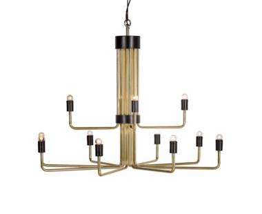 Le Marais Chandelier - 12 Light / Brass