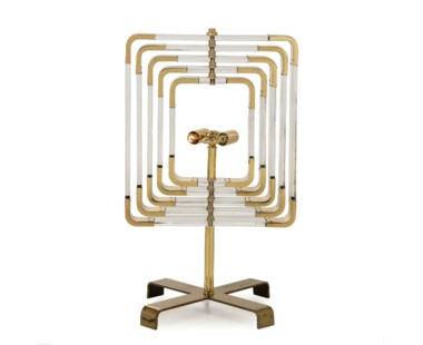 Spiral Acrylic Table Lamp - Brass