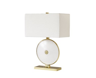 Marble Table Lamp - Round