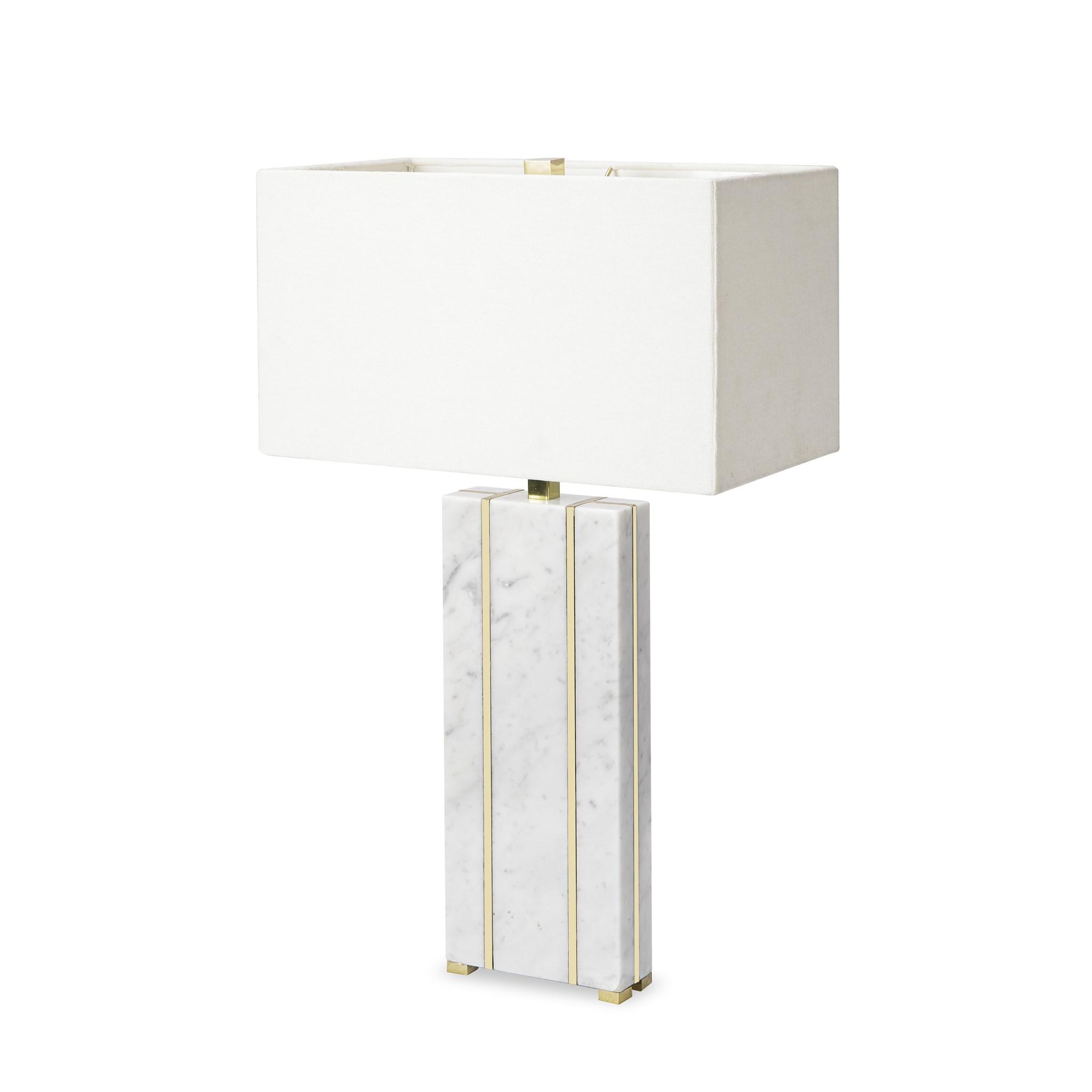 Marble Table Lamp   Rectangular