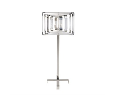 Spiral Acrylic Floor Lamp - Nickel