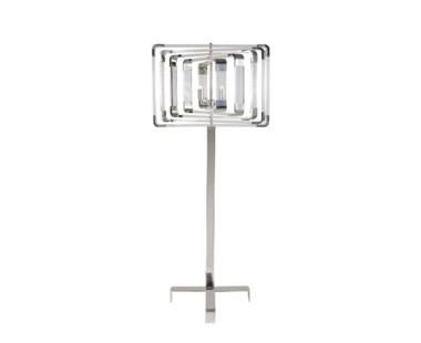 Spiral Acrylic Floor Lamp - Nickel