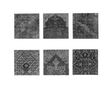 Persian Carpet Wall Tiles - Black & White
