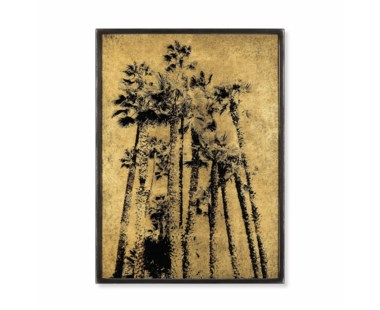 Santa Monica Palm Trees - Gold Leaf