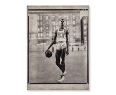 Vintage Athletes Concrete Print - Basketball