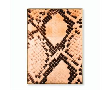 Copper Leaf Snake Skin - Rectangle
