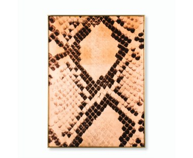 Copper Leaf Snake Skin - Rectangle