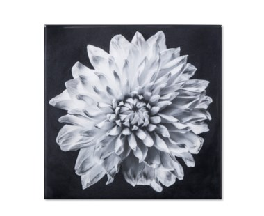 Black & White Flower - Epoxy / C