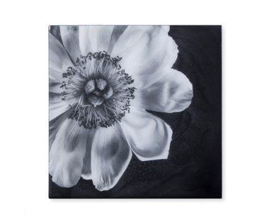 Black & White Flower - Epoxy / D