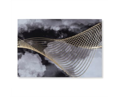 Gold Leaf Abstract on Canvas