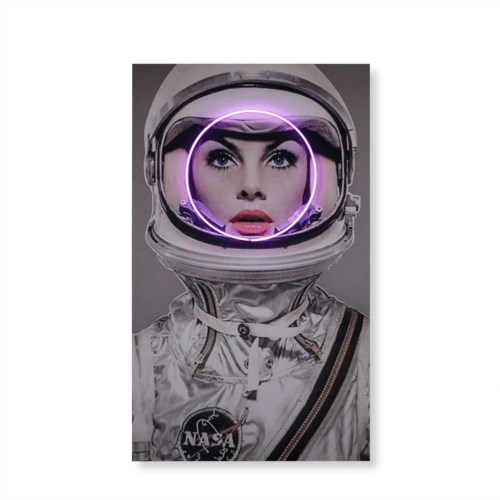 LED Neon Space Girl -Pink