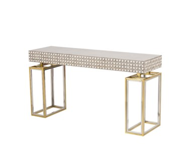 Cowrie Console Table - Concrete Top